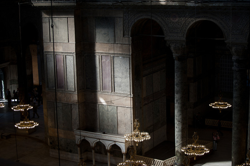 Light cast through window inside Hagia Sophia - Istanbul, Turkey