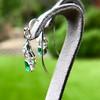 2.00ctw+ Emerald and Diamond Art Deco Conversion Earrings 17