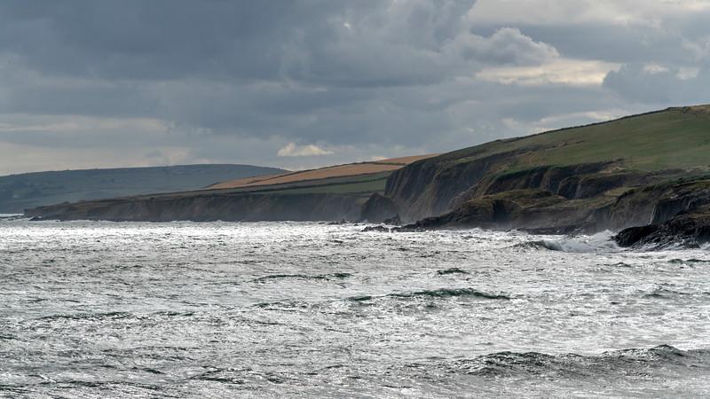 Scenic view of coastline, Old Head of Kinsale, Kinsale, County Cork, Ireland