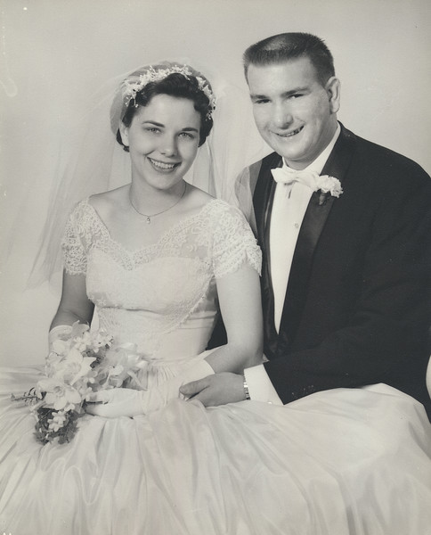 Dorothy ? Schultz and Frank Schultz, wedding photo.  When?