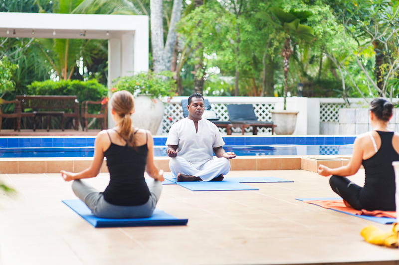 Yoga and meditation at Surya Lanka Retreat