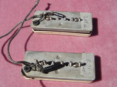 1954 Les Paul P-90 pickups and covers