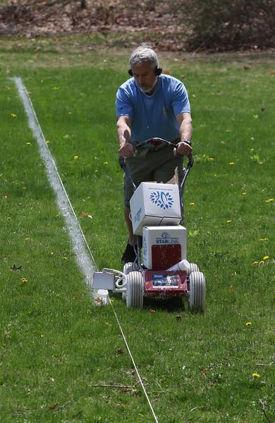 Lining Shirley soccer field 042021