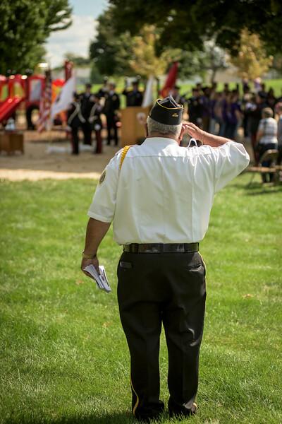 Hampshire Firefighter Memorial Dedication - September 17, 2016