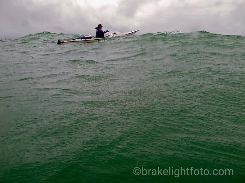Kayaker off Ferrer Point, Nootka Island