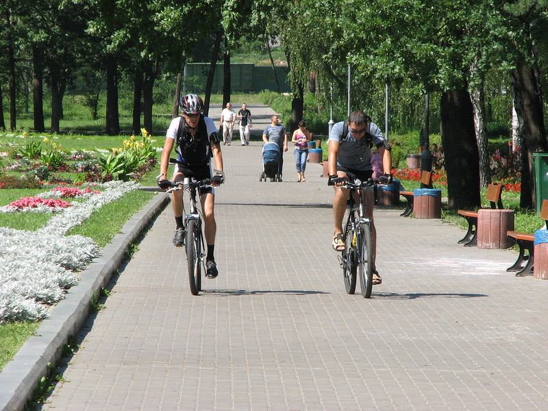 Bikers in Kyiv