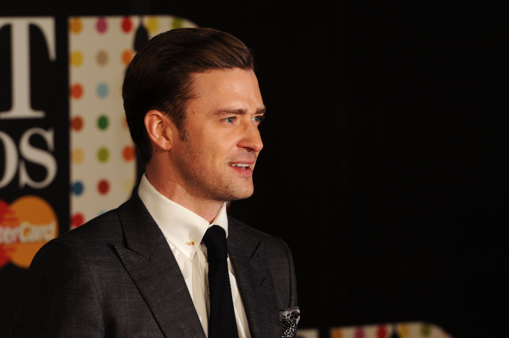 Description of . Justin Timberlake attends the Brit Awards 2013 at the 02 Arena on February 20, 2013 in London, England.  (Photo by Eamonn McCormack/Getty Images)