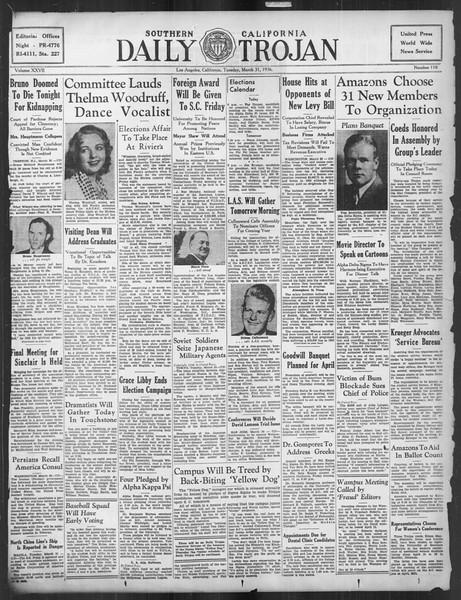 Daily Trojan, Vol. 27, No. 110, March 31, 1936