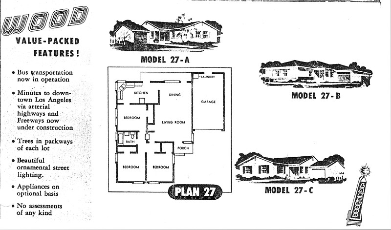 Lakewood Park, Floor Plans for Model 27 A, B, and C