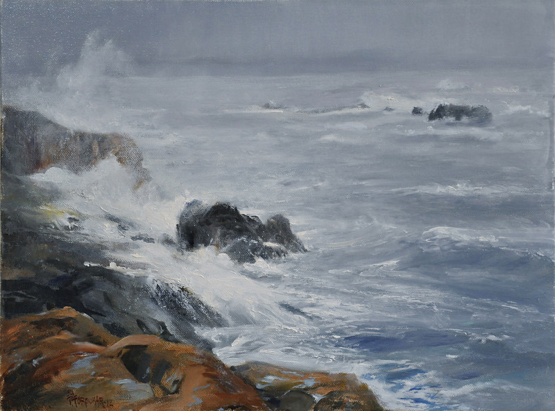 Stormy Day at Northshore, Nov.  (Gloucester, MA) 18x24