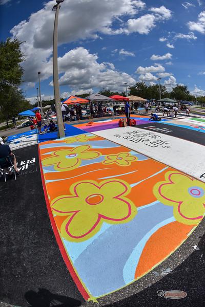 Senior Parking Lot Painting