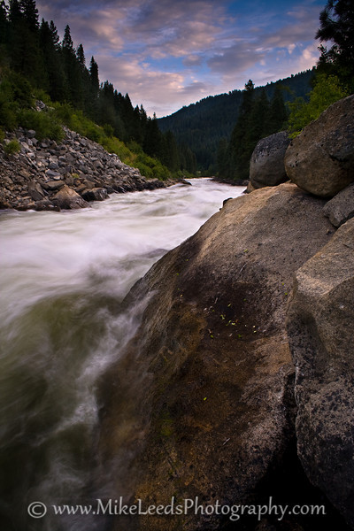 """Looking down """"Jacob's Ladder"""" on the North Fork Payette River in Idaho."""