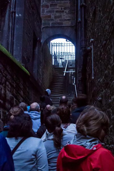 Plenty of dark spooky alleys.
