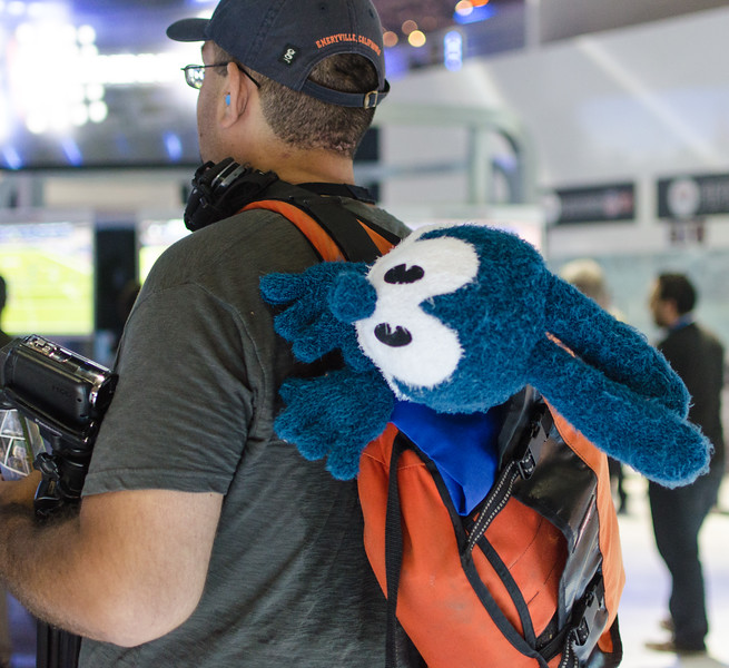 Funny backpack at E3 2012
