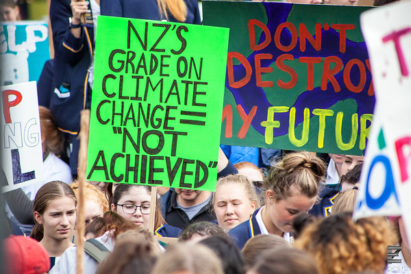 School Strike for Climate Christchurch - Cathedral Square