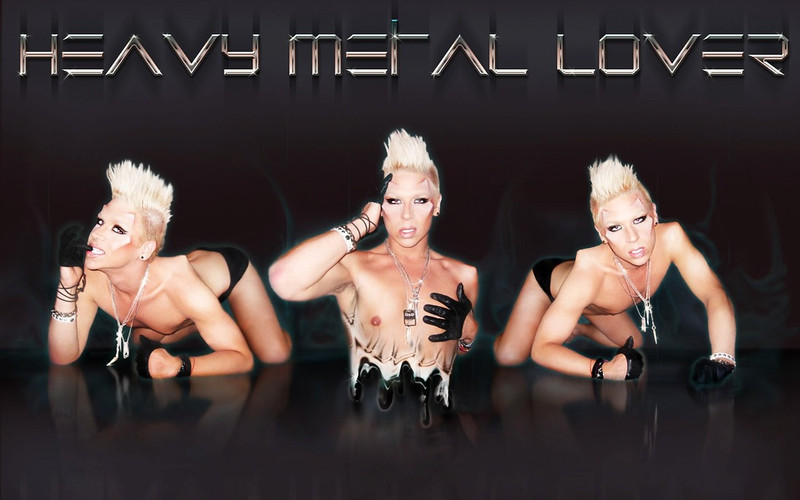 Makeup, concept, photography, and graphics by Michael Vogue. Custom Metallic Font.