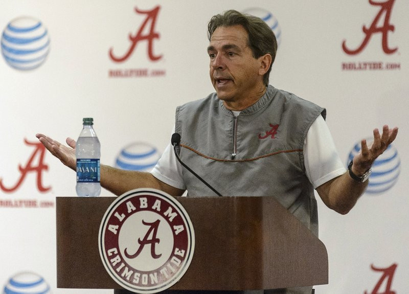 """. <p>6. NICK SABAN <p>Alabama ingrate will REALLY be in bad mood when Johnny Football beats him again. (unranked) <p><b><a href=\'http://deadspin.com/nick-saban-walks-out-of-press-conference-over-d-j-fluk-1296753370\' target=\""""_blank\""""> HUH?</a></b> <p>    (AP Photo/AL.com, Vasha Hunt)"""