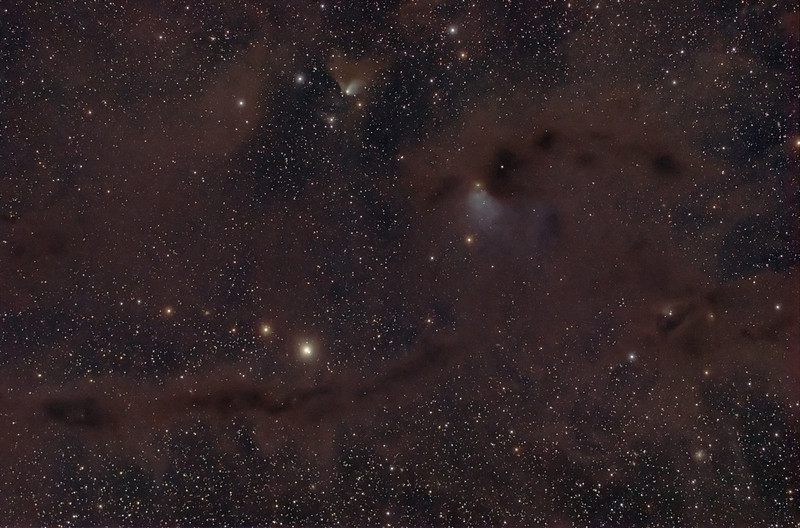 Barnard 7 and surroundings (B10, B209, B211/3, B213, B216, VdB 27)