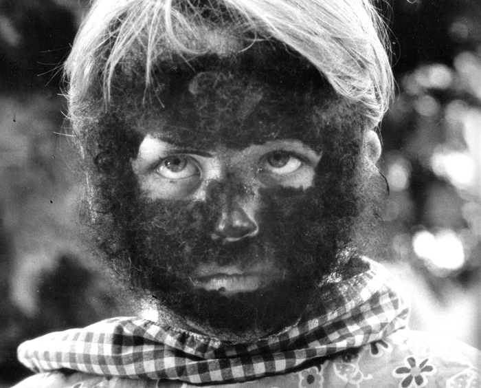 . 1982: Adam Jones, 8, emerges as the Wolfman from a monster-makeup workshop at Linda Vista School in East San Jose. (Eugene Louie, Mercury News)