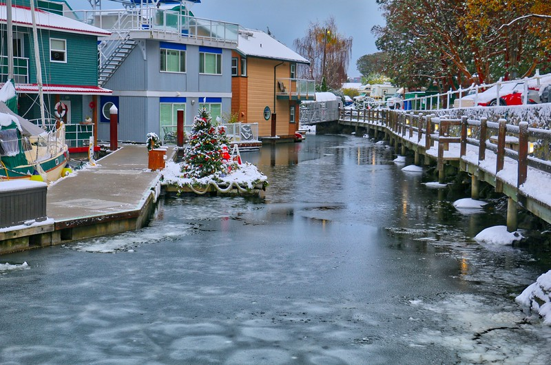 West Bay Marina Snow