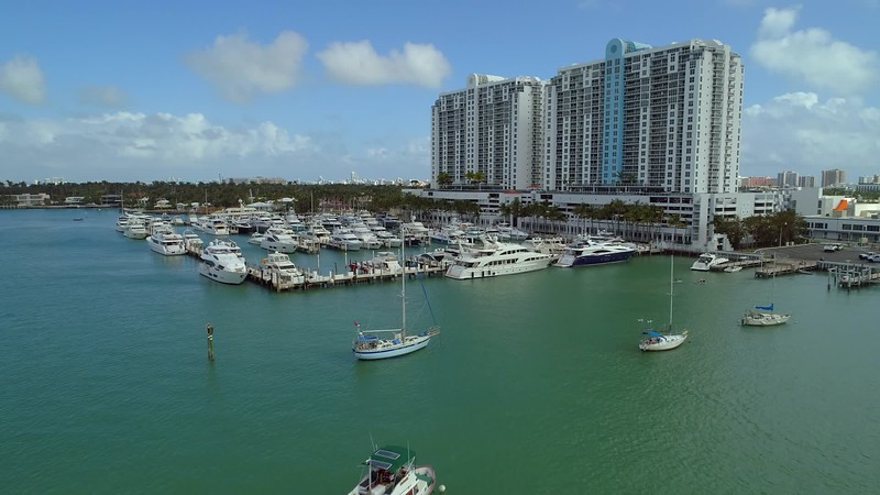 Aerial drone footage Sunset Harbour real estate Miami Beach