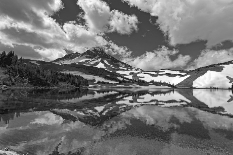 Camp Lake B&W