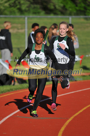 Girls' 800M Relay Final - 2013 Oakland County Track Meet