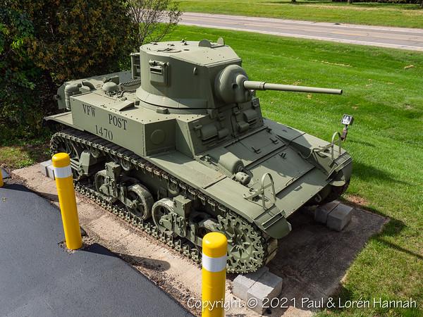 VFW Post 1470, Bath, NY - M3A1 Stuart + AH-1