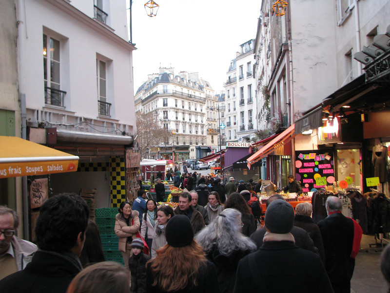 Very active street in the Latin Quarter in the early evening.  The locals are out shopping for their fresh ingredients for their dinner.