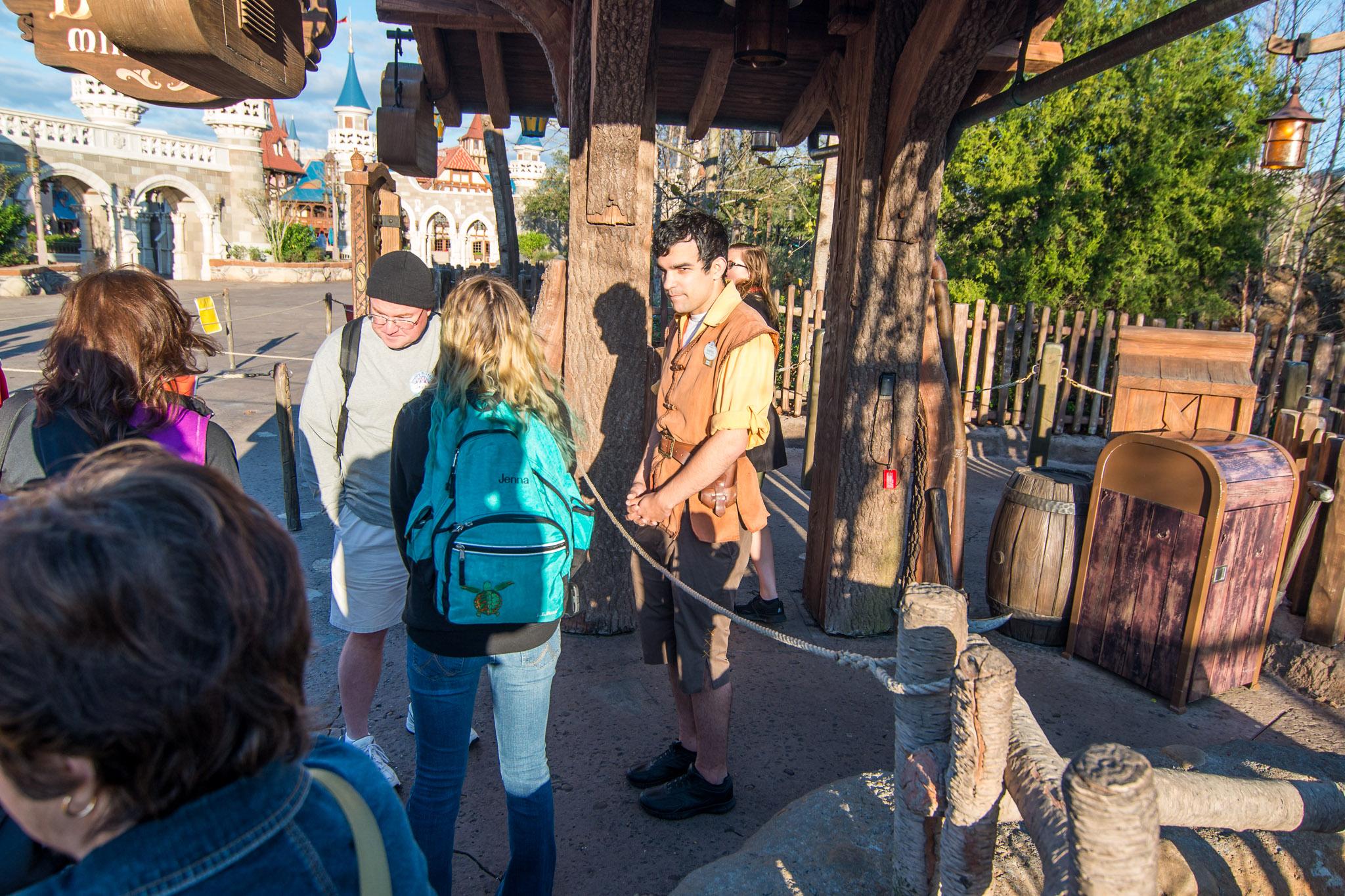 Front of Line at Seven Dwarfs Mine Train - Walt Disney World Magic Kingdom