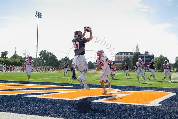 Wheaton College Football vs Monmouth, September 1, 2018