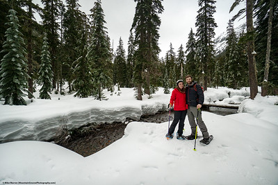 2019 - Snowshoeing with Annie, Cherie' and KC