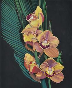 """Orchid"" (pastel) by Janet Jensen"