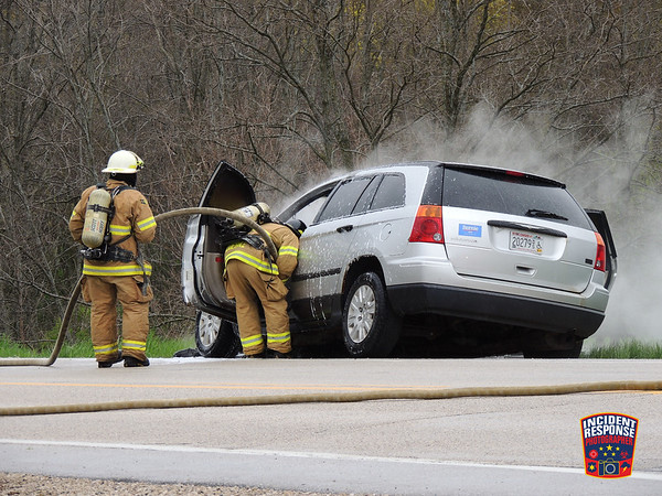 Vehicle fire on May 13, 2016