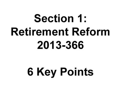 COJ Retirement Reform Agreement