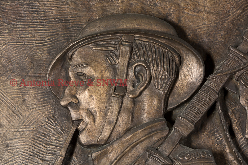 Frieze Detail of Service Personnel South Eastern Wall Piper Gordon Highlanders