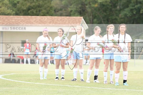 USJ Girls Soccer Senior Night 10-1-15