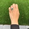 4.38ctw Art Deco Russian Demantoid & Diamond Cluster Ring 20