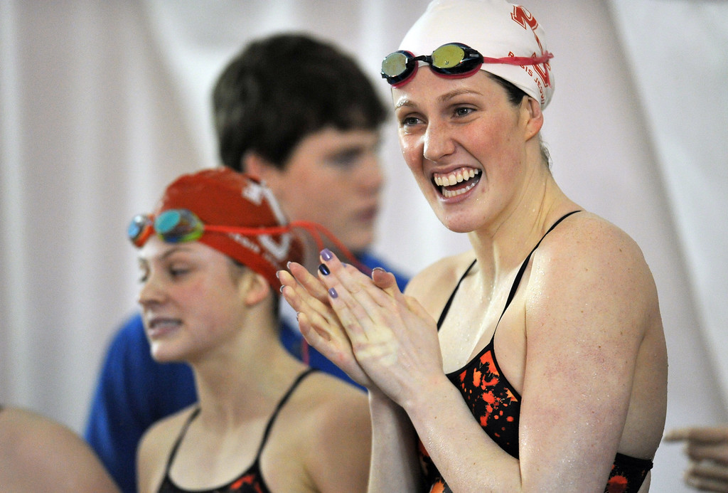 . Olympic Gold Medalist Missy Franklin of Regis is in the meet against Cherry Creek on Tuesday in  Aurora, CO, January 8, 2013.  Hyoung Chang, The Denver Post