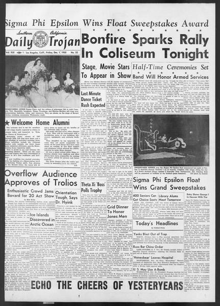 Daily Trojan, Vol. 42, No. 52, December 01, 1950