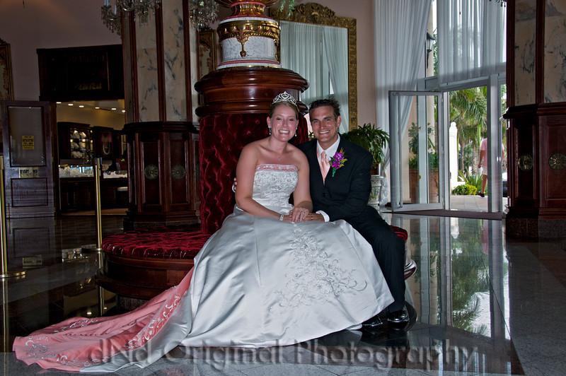 097 Wedding & Dinner - Heather & Justin In Lobby.jpg