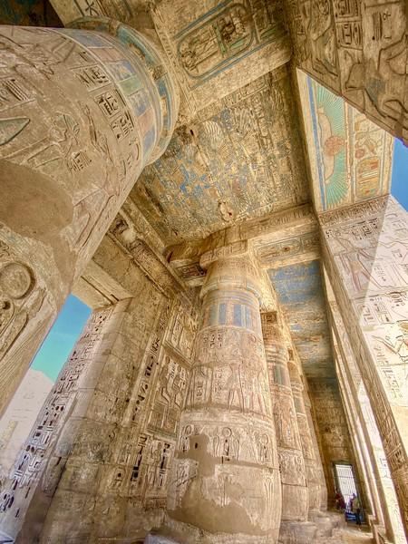 Stunning colors and detail at Medinet Habu