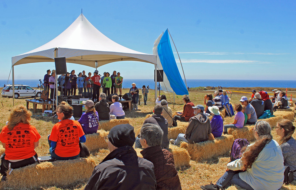 . The Mendocino Women�s Choir performed before a stunning backdrop.