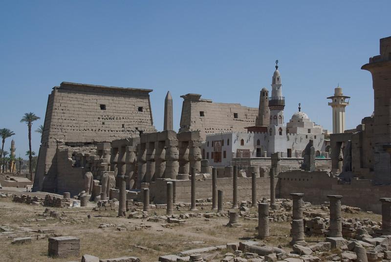 The ruins inside Luxor Temple - Luxor, Egypt