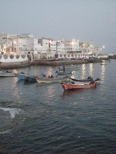 early evening in the old harbor of Mukalla