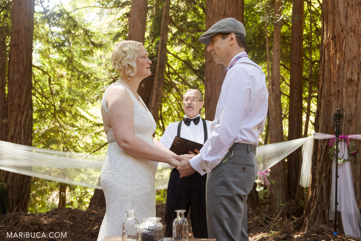 Look each other in the wedding day, Los Gatos