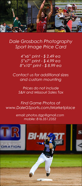 Sports Image Price Card