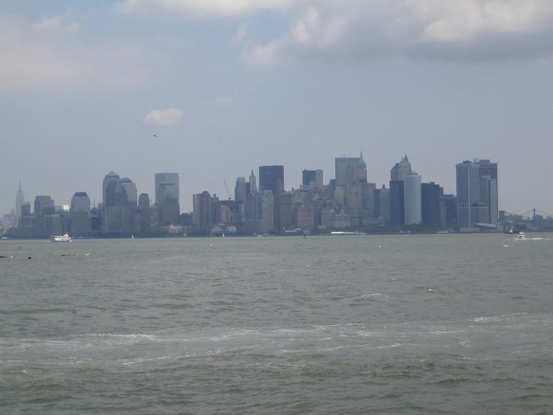 Manhattan from the Ellis Island Ferry