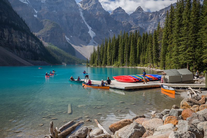 Canoe Center at Moraine Lake