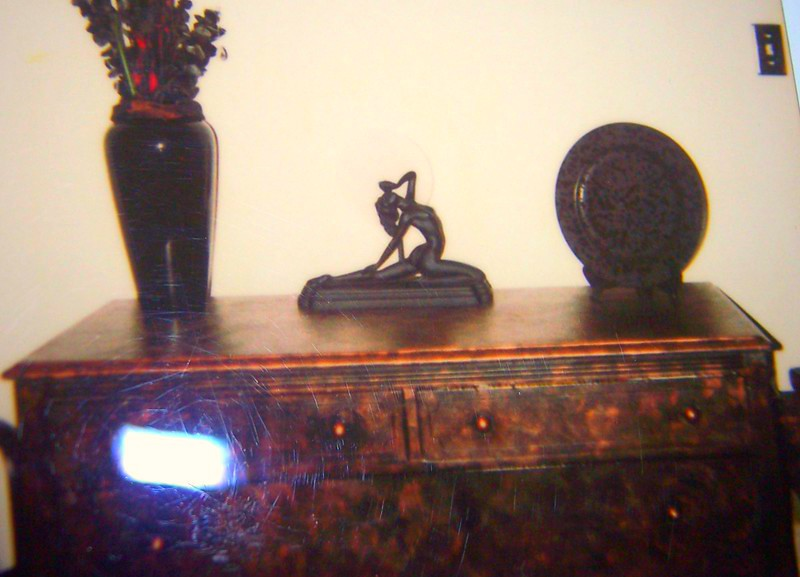 Dresser painted copper & smudged with black on my SOMA St. Francis Place Apartment in San Francisco (about 1993-1996)!!